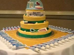 Dentist's retirement party cake